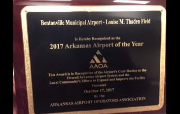 AAOA Airport recognition plaque 2017