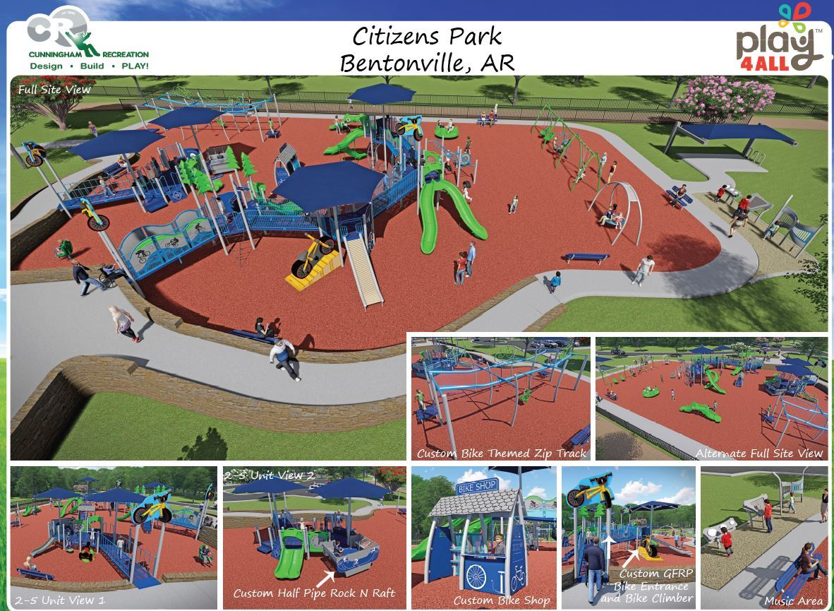 Citizens Park digital rendering of playground