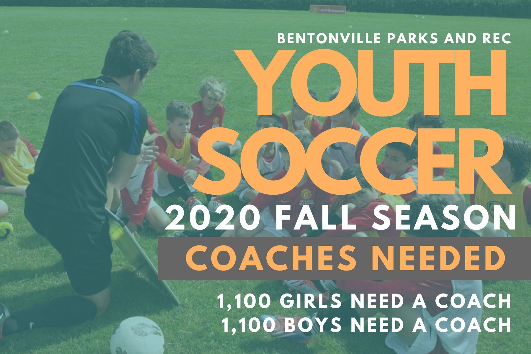 FALL 2020 Youth Soccer Coaches Needed