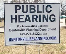 public hearing sign